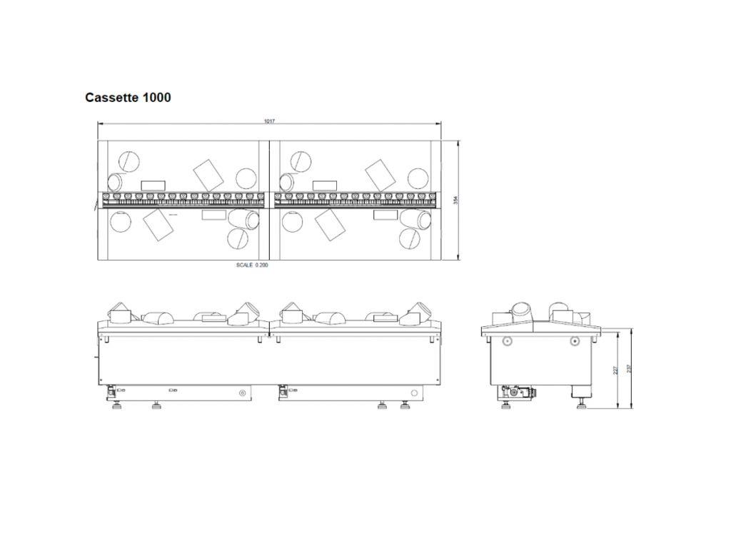 Dimplex Opti-myst Cassette 1000R elektrische haard