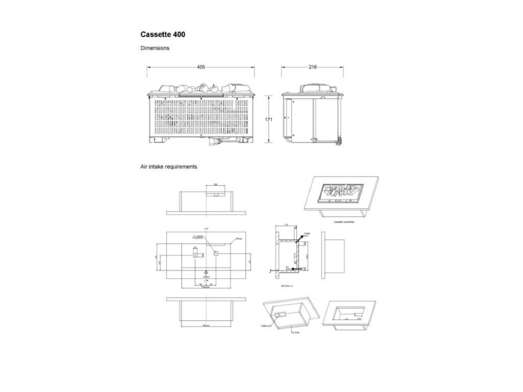 Dimplex Opti-myst Cassette 400 elektrische haard