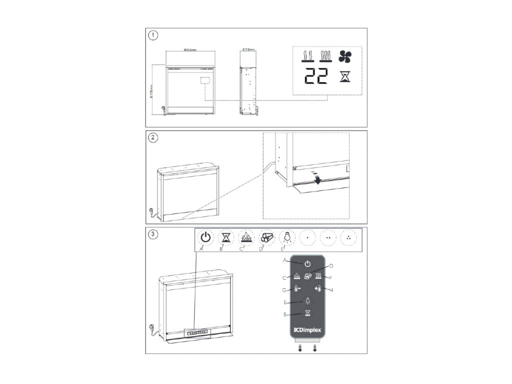 Dimplex Firebox DF3020 elektrische haard