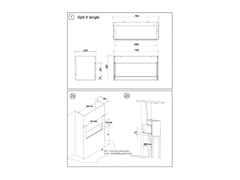 Dimplex Single Opti-Virtual